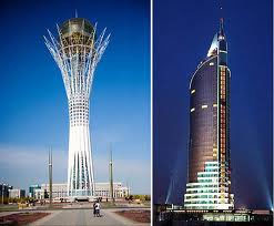 Architectural sights in Kazakhstan