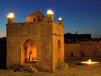 Атешгях, древний храм огнепоклоннико