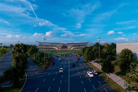Терминал нового аэропорта в Самарканде будет выполнен в форме раскрытой книги